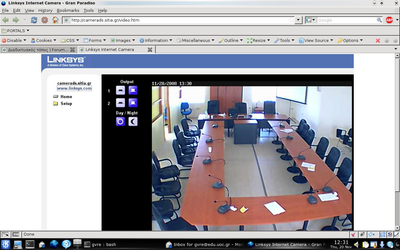 webcam with firefox